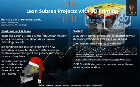 Lean Subsea Projects with 3D printing
