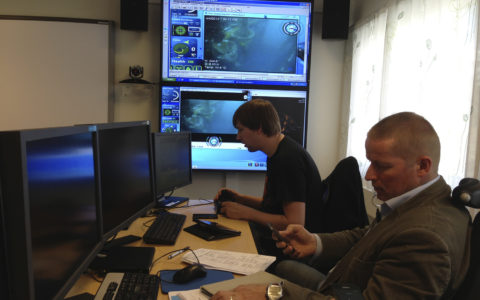 Integrated ROV operation between Stavanger and the North Sea