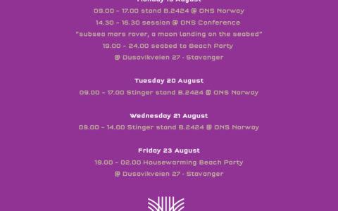 ONS Norway program for Stinger